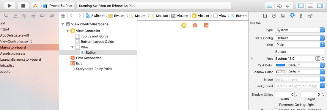 Разметка элементов пользовательского интерфейса в Xcode