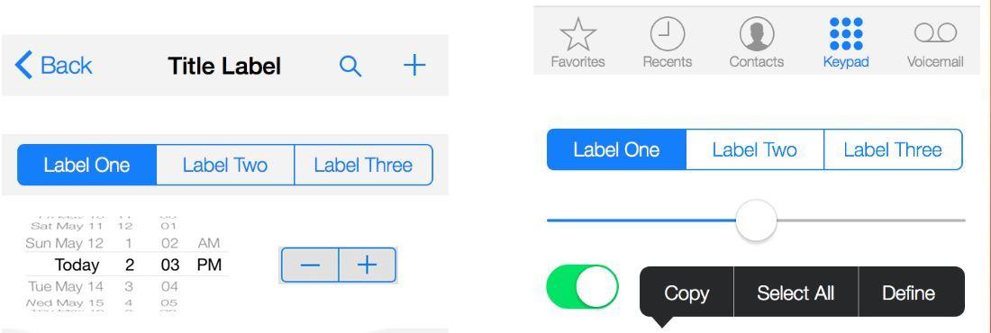 Xcode Элементы упраления и предсталвения