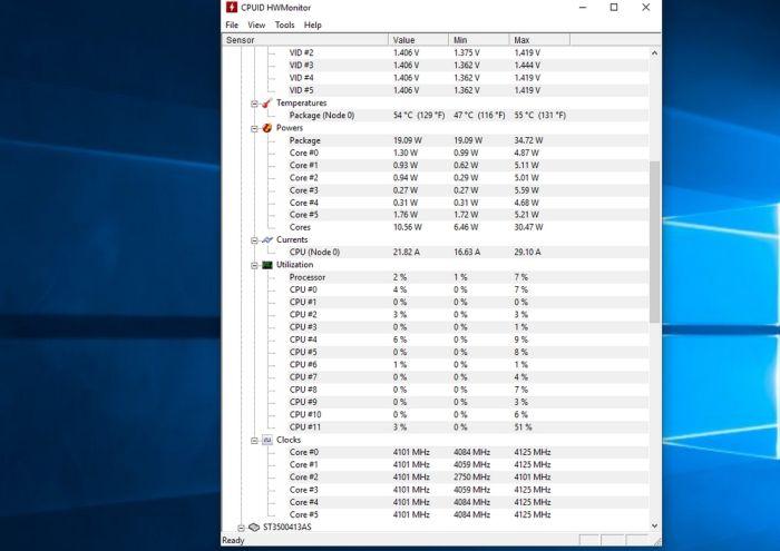 рабочая температура процессора